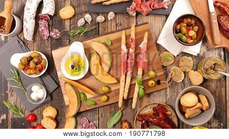 antipasto,buffet food