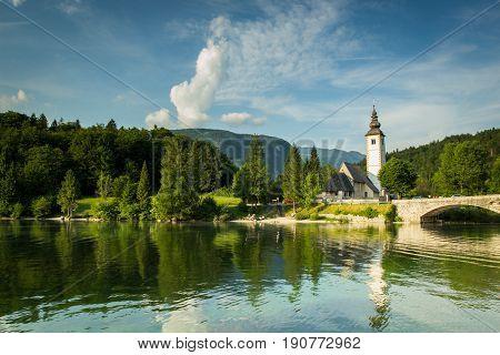 Old St John Church At Bohinj Lake Slovenia