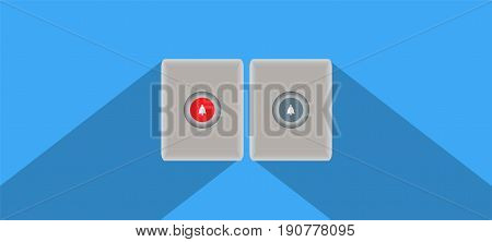 Doorbell Button With Space Background