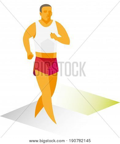 An experienced athlete is a race walker of long distance participating in competitions