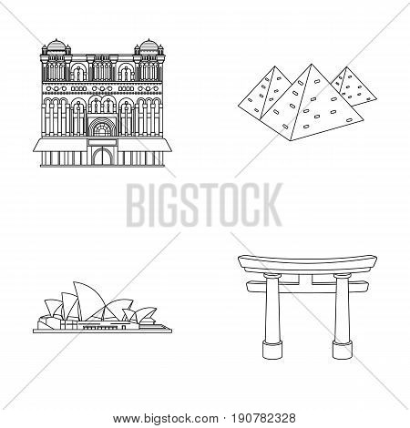 Building, interesting, place, palace .Countries country set collection icons in outline  vector symbol stock illustration .