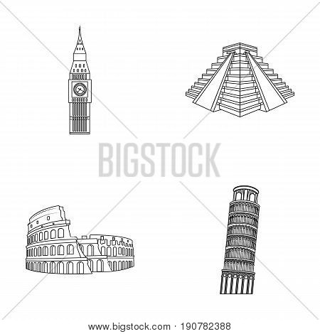 Building, landmark, bridge, stone .Countries country set collection icons in outline  vector symbol stock illustration .