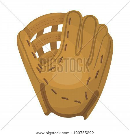 Glove trap. Baseball single icon in cartoon  vector symbol stock illustration .
