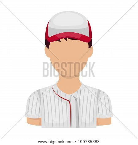 Baseball player. Baseball single icon in cartoon  vector symbol stock illustration .