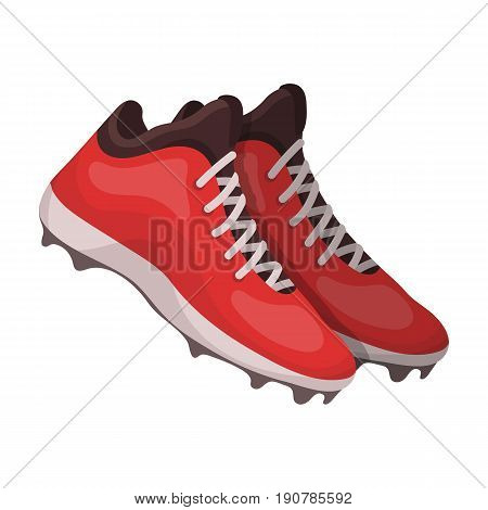 Baseball Sneakers. Baseball single icon in cartoon  vector symbol stock illustration .