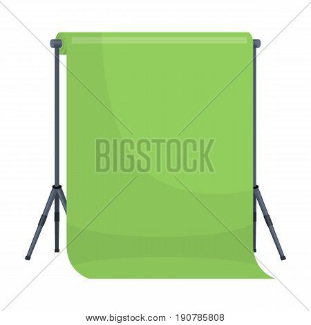 Background stand, hromakey. Making a movie single icon in cartoon  vector symbol stock illustration .