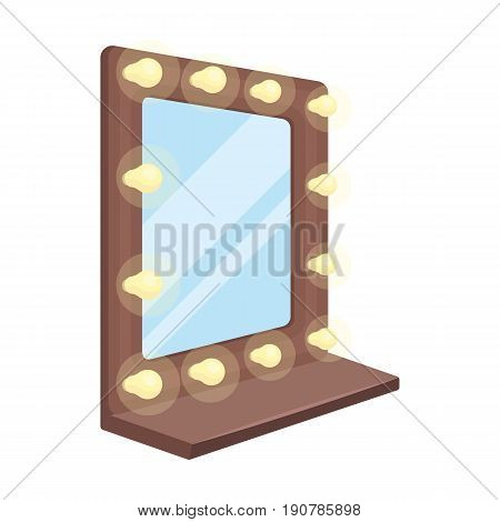 Mirror in the make-up room.Making movie single icon in cartoon  vector symbol stock illustration .