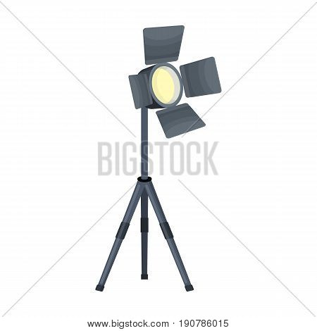 Searchlight for cinema.Making movie single icon in cartoon  vector symbol stock illustration .
