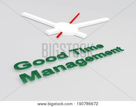 Good Time Management Concept