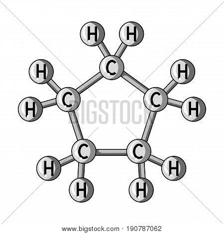 Chemical oil formula.Oil single icon in monochrome  vector symbol stock illustration .