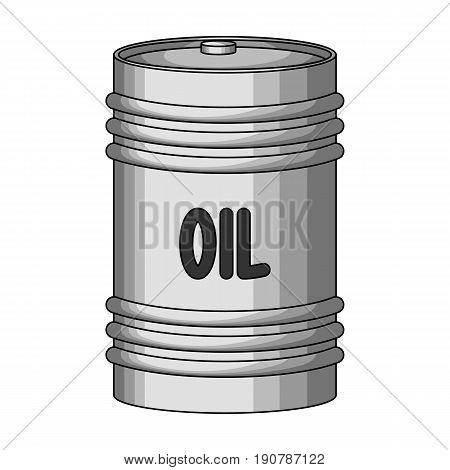 Barrel of oil.Oil single icon in monochrome  vector symbol stock illustration .