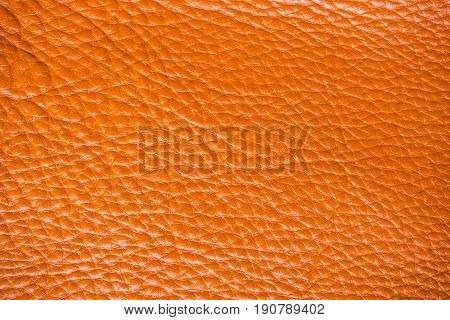 Tan Full Grain Cow Leather Background