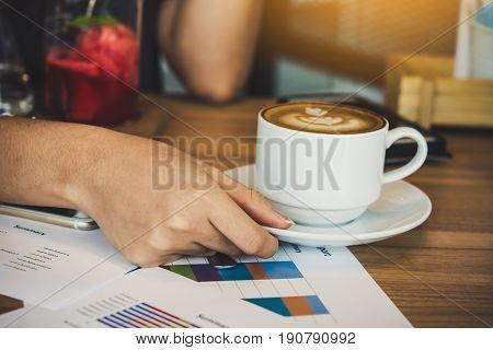 Take a short break with hot latte