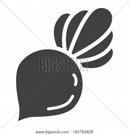 Beet solid icon, vegetable and diet, vector graphics, a glyph pattern on a white background, eps 10.