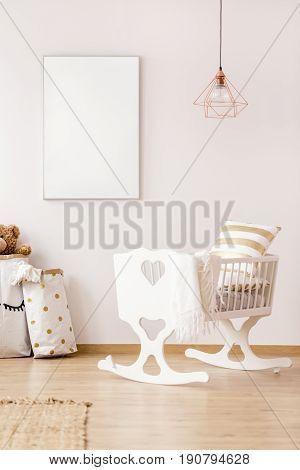 Mockup Poster Frame In Scandinavian Interior