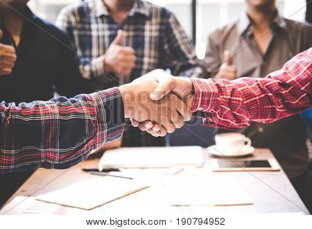 Engineers shaking hands for success. Engineer Concept
