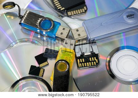 computer storage device (Flash drives, Memory Card, CD-R)