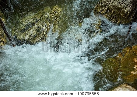 River Rapids In The Mountain