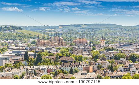 Panoramic view Trier Rhineland Palatinate Germany Picture