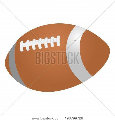 American football ball football ball rugby ball. Vector illustration. Isolated on white