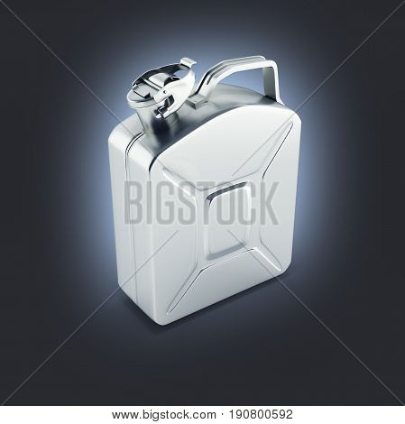 Gas Canister Perspective View On Dark Blue Gradient Background 3D