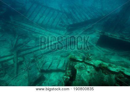 Broken Part Of Shipwreck