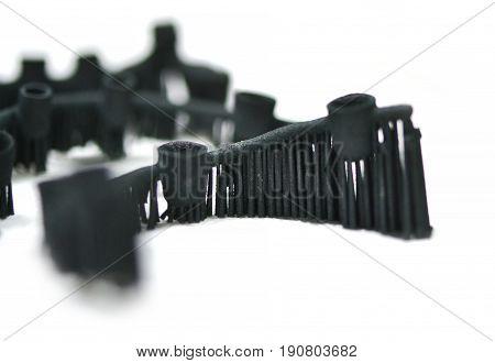 Object denture body printed on a laser sintering machine