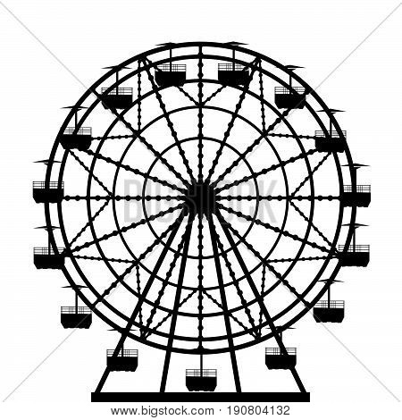 Illustration of a ferris wheel from an amusement park