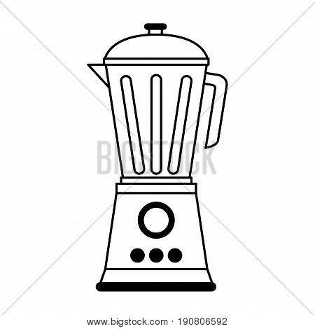 blender home electronic appliance icon image vector illustration design  single black line