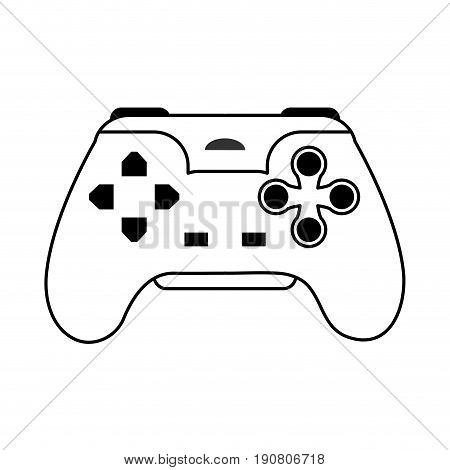 videogame controller icon image vector illustration design  single black line