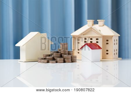 Buy House Or Selling For Real Estate Property Industry Concept.