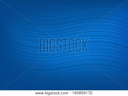 Abstract dark blue background with a pattern of curved lines-vector illustration
