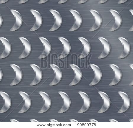 Corrugated Seamless Background. Good For Web Design. Realistic Corrugated Steel Plate Illustration.