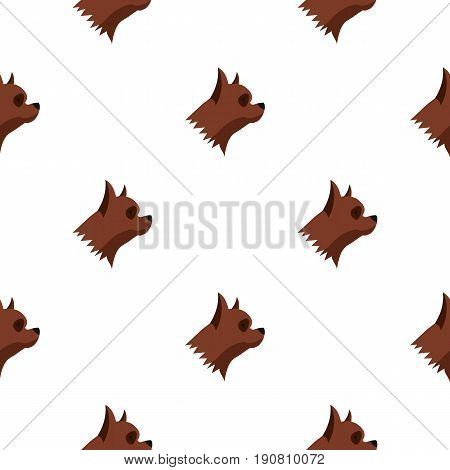 Pinscher dog pattern seamless background in flat style repeat vector illustration