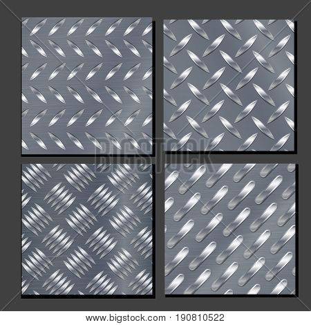 Corrugated Seamless Background. Good For Web Design. Realistic Corrugated Steel Plate Illustration.