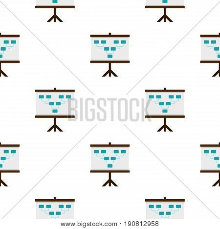 Board with team formation pattern seamless background in flat style repeat vector illustration