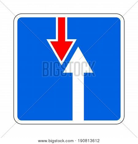Illustration of Road Priority Sign. The Advantage Over Oncoming Traffic