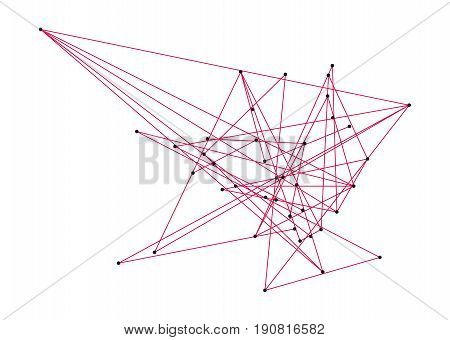 Line Lei for map of Europe. Abstract geometric background. Vector lines pattern.