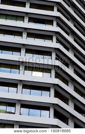 Reflex Of Some Gray Glass Of The Centre  Bangkok