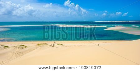 Sand dunes and tropical paradise in Mozambique