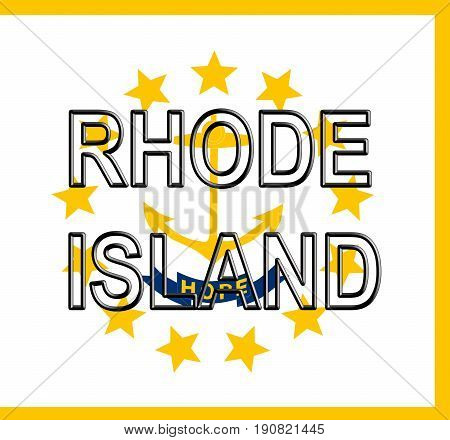 Flag Of Rhode Island Word