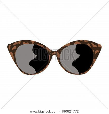 Sunglasses rim for view optometrist aflomologist vector illustration
