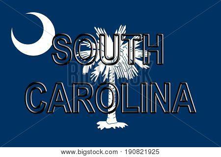 Flag Of South Carolina Word