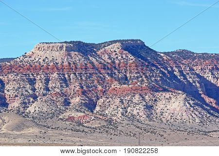 Rock striations of a mountain in Utah