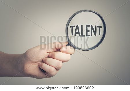 Looking for talent. Conceptual image of talent recruitment or job opportunities.
