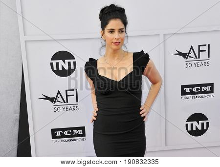 Sarah Silverman at the AFI Life Achievement Award Gala Tribute To Diane Keaton held at the Dolby Theatre in Hollywood, USA on June 8, 2017.