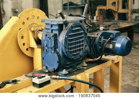 Modern equipment in shop for metalworking