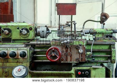 Part of turning machine for metalworking in shop