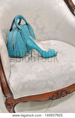 Blue bag and shoe