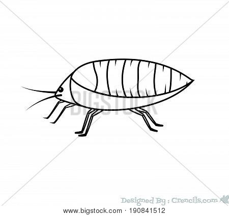 Drawing Art of Aphid Insect - Vector Stock Illustration